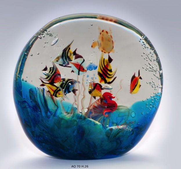 Produzione acquario artigianale veneziano AQ07 lavorazione vetro di Murano originale