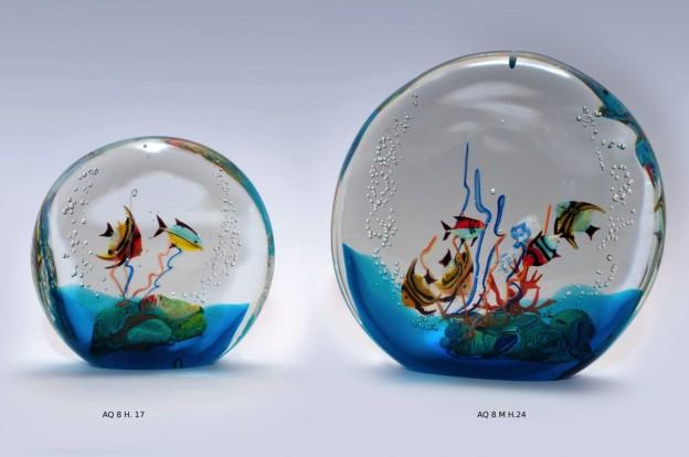 Produzione acquario artigianale veneziano AQ08 lavorazione vetro di Murano originale