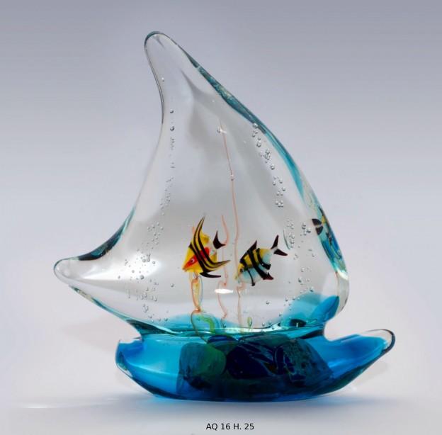 Produzione acquario artigianale veneziano AQ16 lavorazione vetro di Murano originale