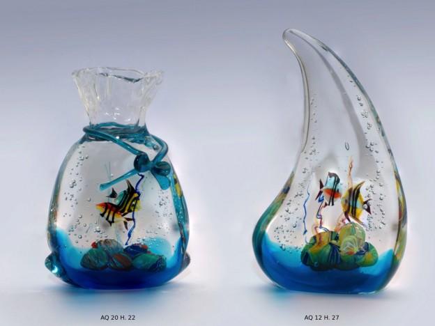 Produzione acquario artigianale veneziano AQ20 lavorazione vetro di Murano originale