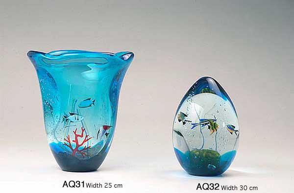 Produzione acquario artigianale veneziano AQ31 lavorazione vetro di Murano originale