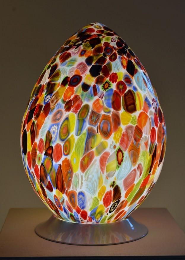 Produzione Lampada artigianale veneziana MUR02 lavorazione vetro di Murano originale