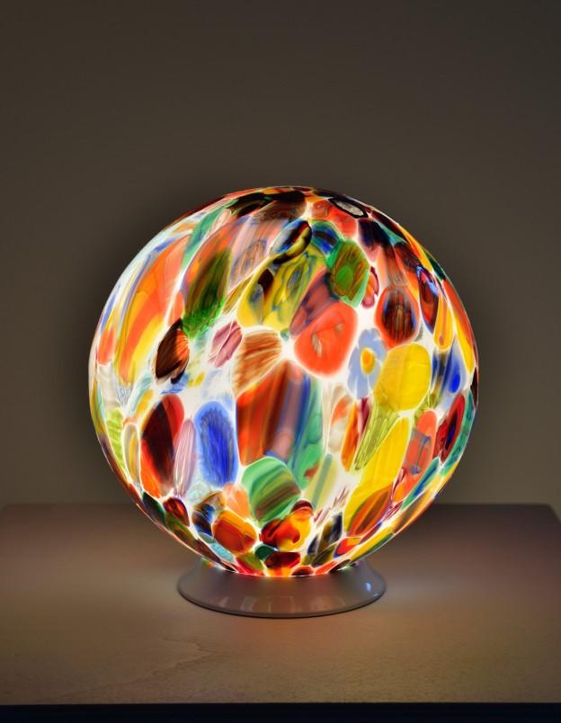 Produzione Lampada artigianale veneziana MUR04 lavorazione vetro di Murano originale