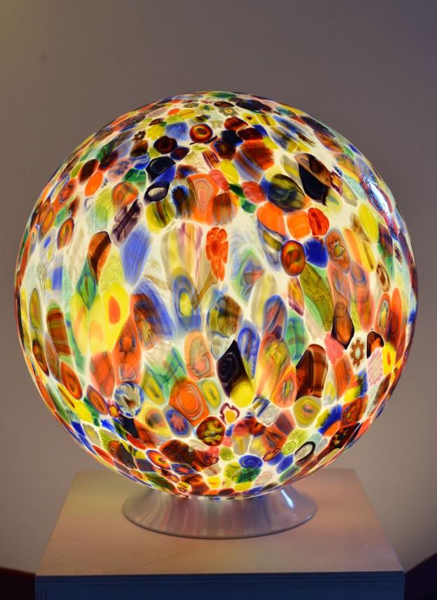 Produzione Lampada artigianale veneziana MUR06 lavorazione vetro di Murano originale