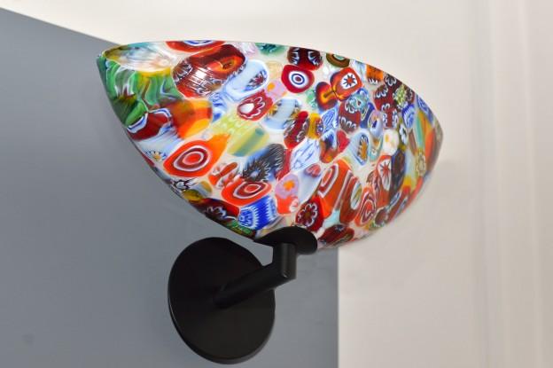 Produzione Lampada artigianale veneziana MUR10 lavorazione vetro di Murano originale