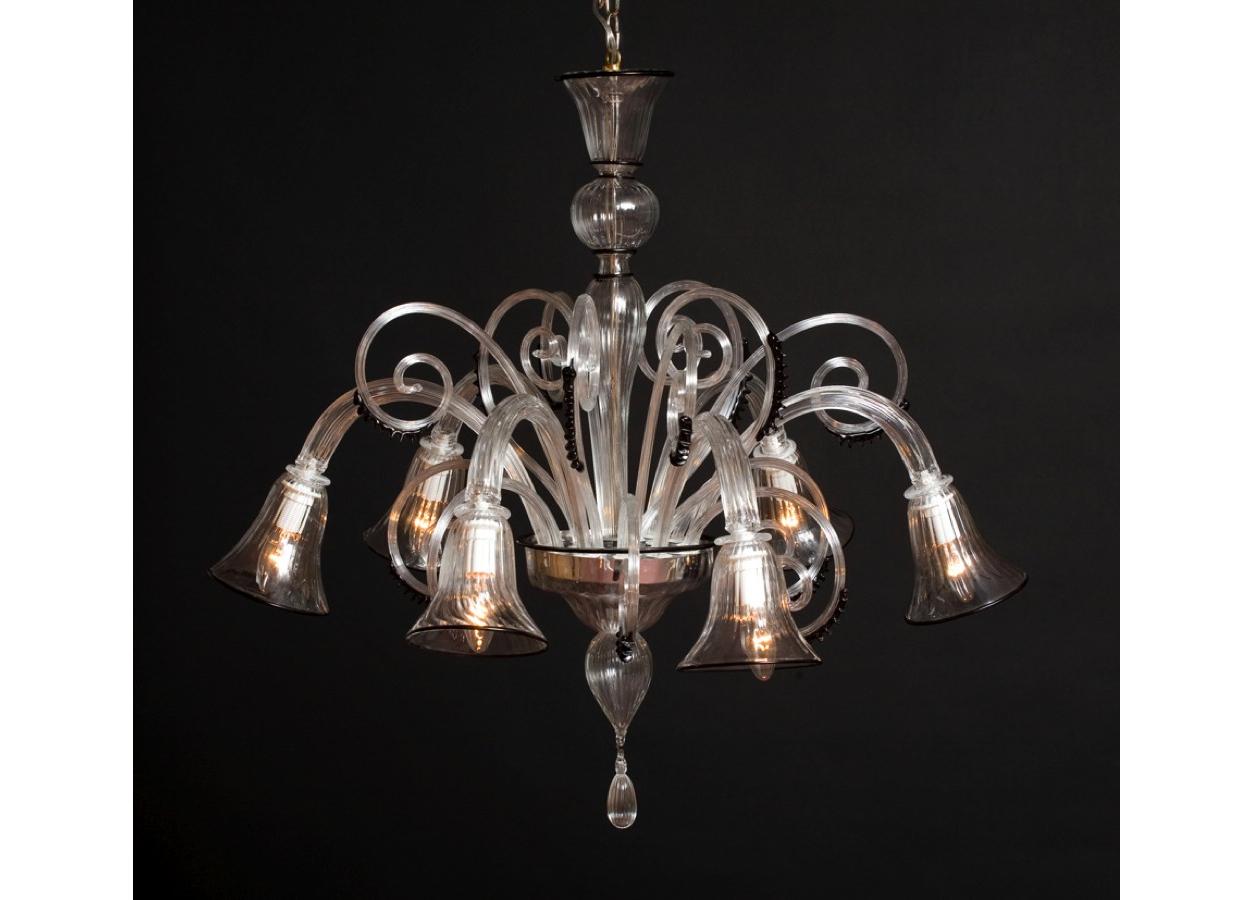 Produzione lampadario artigianale veneziano CALLA lavorazione vetro di ...