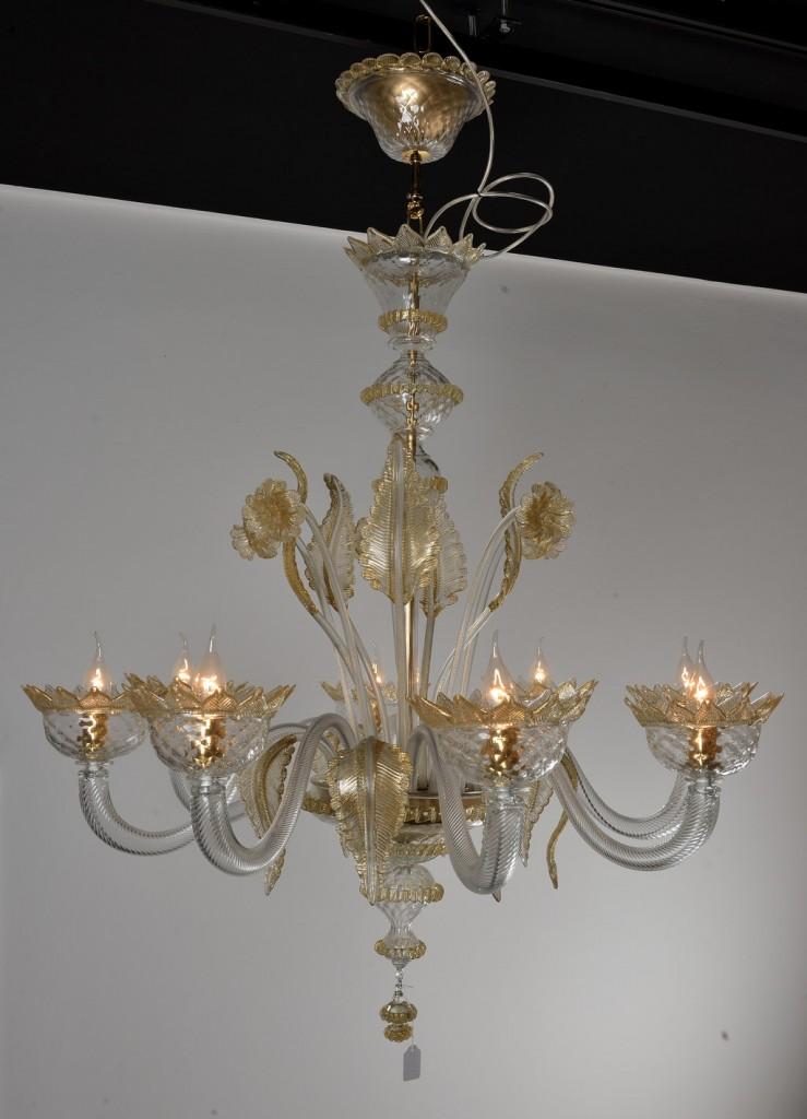 Produzione lampadario artigianale veneziano lavorazione for Lampadario classico