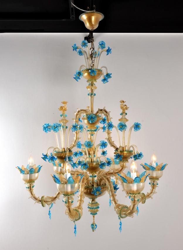 Lampadario artigianale veneziano GIOIA