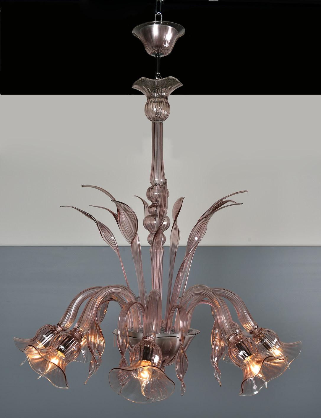 Produzione Lampadario artigianale veneziano MARINO lavorazione vetro ...