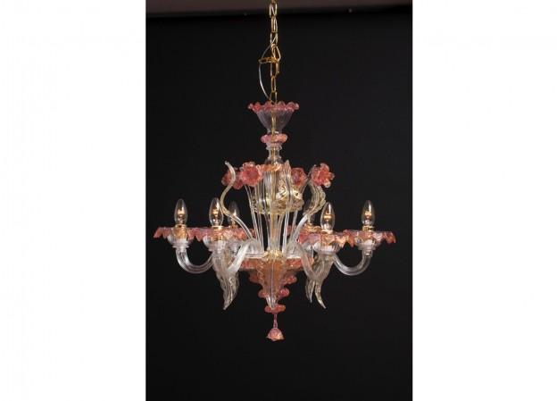 Produzione lampadario artigianale veneziano MIGNON lavorazione vetro di Murano originale