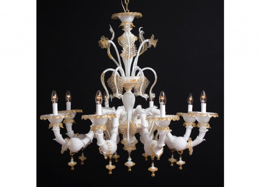 Lampadario Antico Con Angeli : Produzione lampadario artigianale veneziano lavorazione vetro