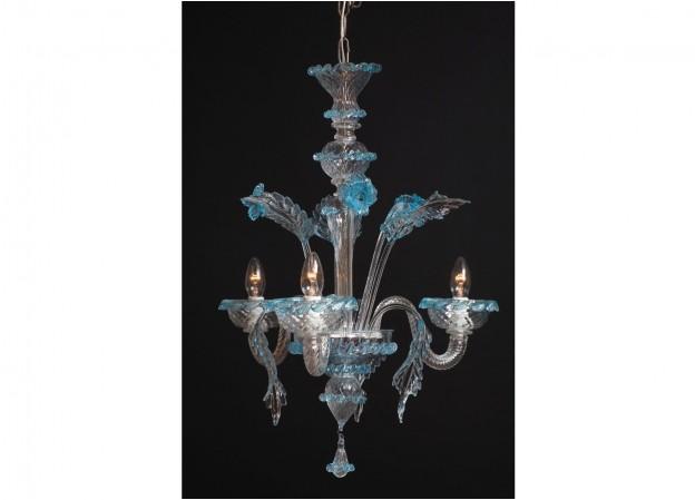 Produzione lampadario artigianale veneziano VENUS lavorazione vetro di Murano originale