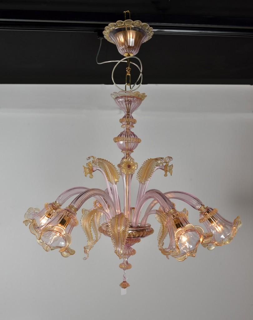 lampadari viola : veneziano viola produzione lampadario artigianale veneziano viola ...