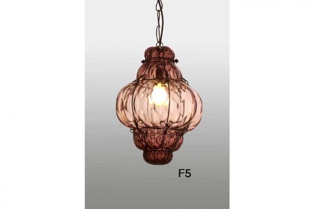 Produzione lanterna artigianale veneziana F5 lavorazione vetro di Murano originale