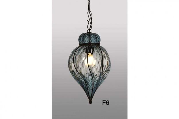 Produzione lanterna artigianale veneziana F6 lavorazione vetro di Murano originale