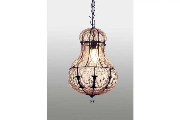 Produzione lanterna artigianale veneziana F7 lavorazione vetro di Murano originale