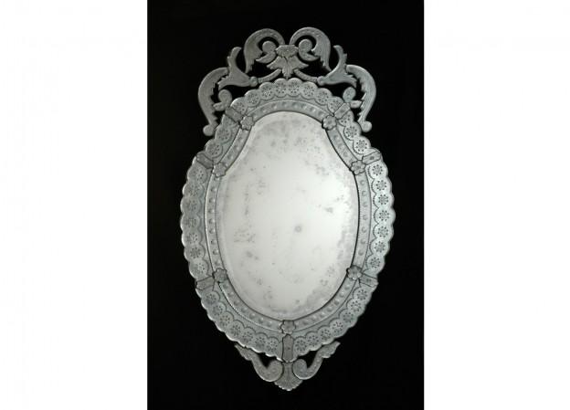Produzione specchio artigianale veneziano SP06 lavorazione vetro di Murano originale