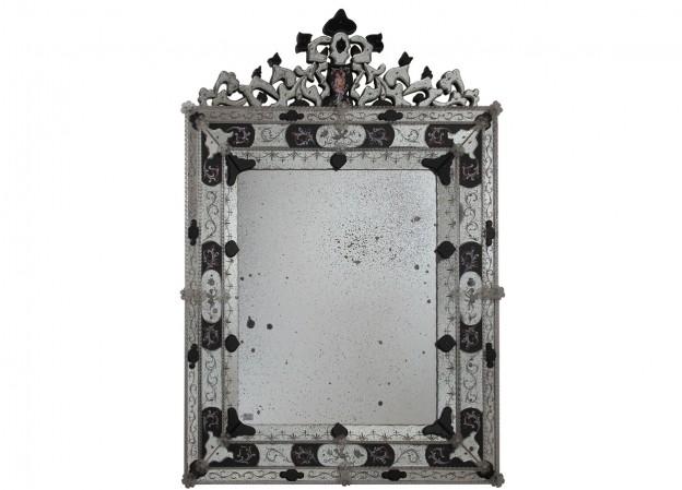 Produzione specchio artigianale veneziano SP08 lavorazione vetro di Murano originale