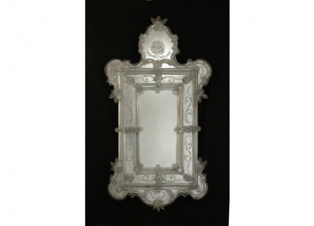 Produzione specchio artigianale veneziano SP22 lavorazione vetro di Murano originale
