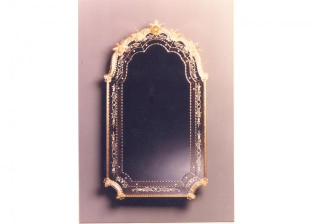 Produzione specchio artigianale veneziano SP302 lavorazione vetro di Murano originale