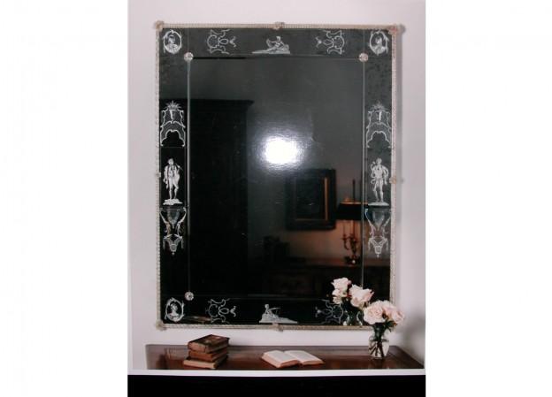 Produzione specchio artigianale veneziano SP36 lavorazione vetro di Murano originale