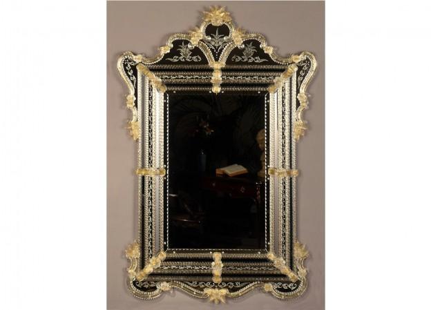 Produzione specchio artigianale veneziano SP385 lavorazione vetro di Murano originale