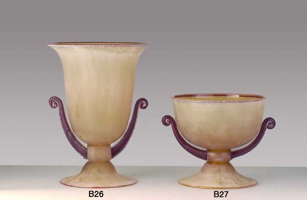 Produzione vaso scavo veneziano B26 lavorazione vetro di Murano originale