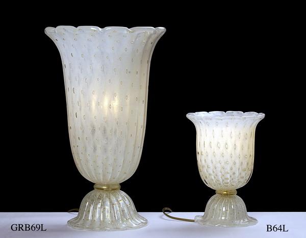 Produzione vaso scavo veneziano GBR69 lavorazione vetro di Murano originale