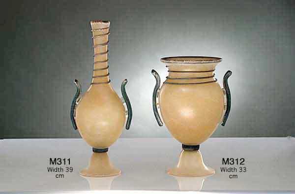 Produzione vaso scavo veneziano M311 lavorazione vetro di Murano originale