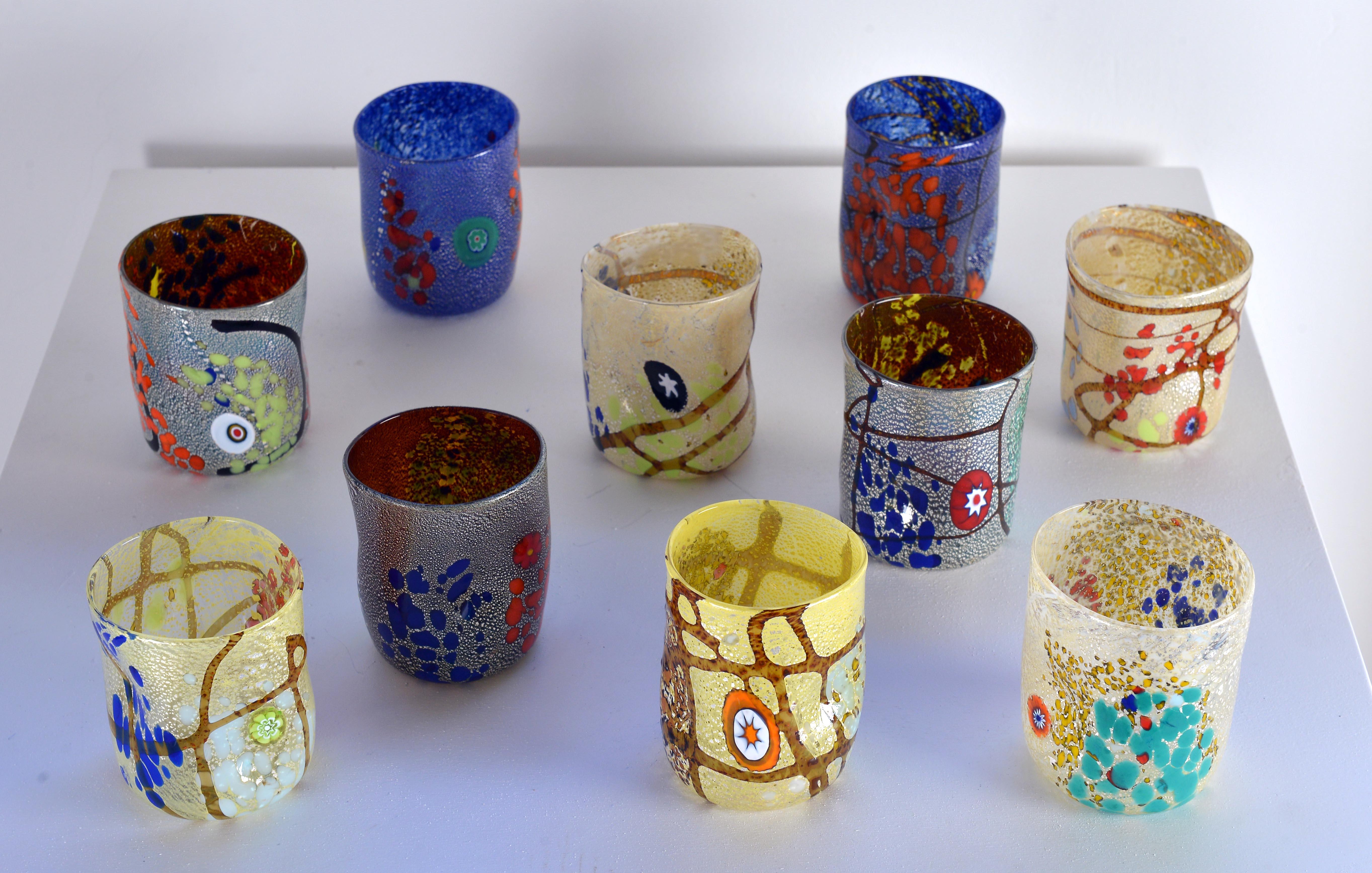 Lavorazioni vetro murano lavorazioni artistiche veneziane gallery bicchieri - Decorare bicchieri di vetro ...
