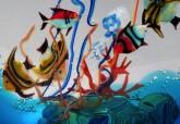 Vetreria artistica veneziana Antichi Angeli acquario artigianale Murano originale 03