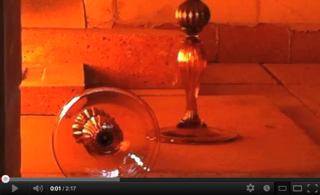 Video creazione calice artigianale veneziano lavorazione Murano originale Antichi Angeli