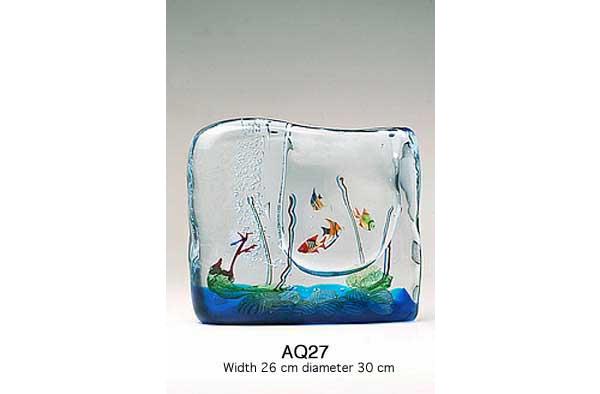 Produzione acquario artigianale veneziano AQ27 lavorazione vetro di Murano originale