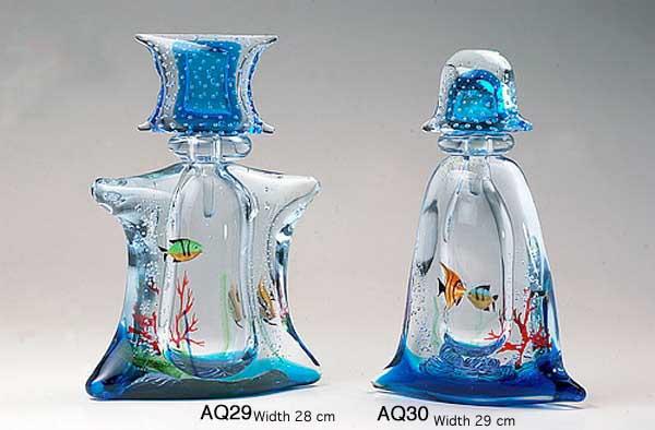Produzione acquario artigianale veneziano AQ29 lavorazione vetro di Murano originale