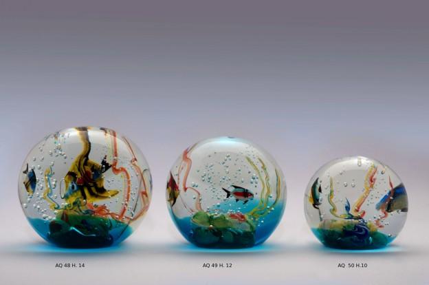 Produzione acquario artigianale veneziano AQ48 lavorazione vetro di Murano originale