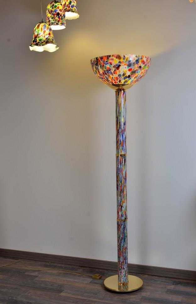 Produzione Lampada artigianale veneziana MUR07 lavorazione vetro di Murano originale