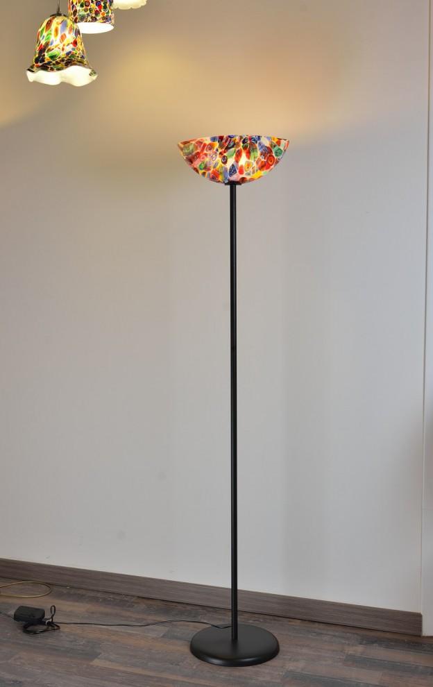 Produzione Lampada artigianale veneziana MUR08 lavorazione vetro di Murano originale