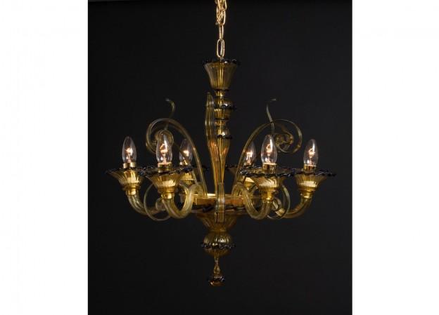 Produzione lampadario artigianale veneziano MICRO lavorazione murano originale