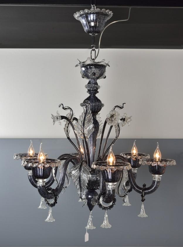 Produzione Lampadario artigianale veneziano VENEZIA lavorazione vetro di Murano originale