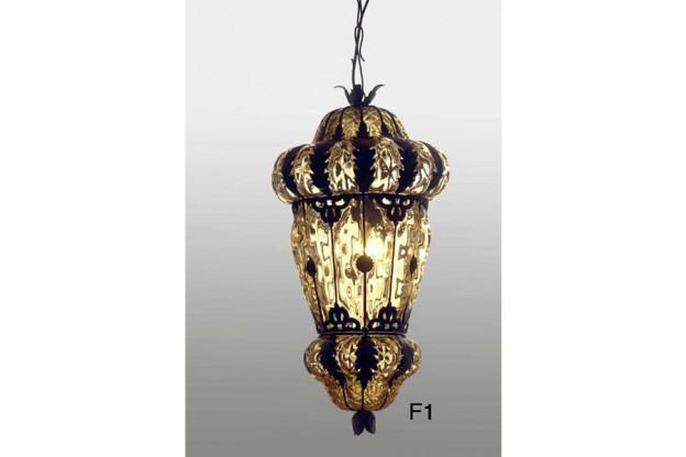 Produzione lanterna artigianale veneziana F1 lavorazione vetro di Murano originale