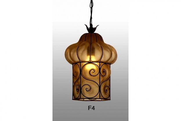 Produzione lanterna artigianale veneziana F4 lavorazione vetro di Murano originale