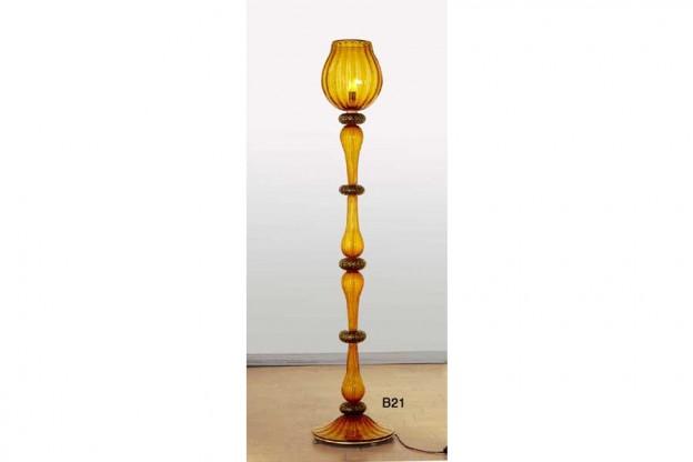 Produzione piantana artigianale veneziana B21 lavorazione vetro di Murano originale