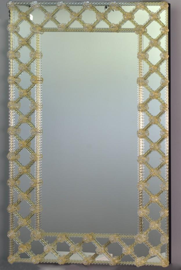 Produzione specchio artigianale veneziano SP05 lavorazione vetro di Murano originale