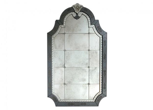 Produzione specchio artigianale veneziano SP07 lavorazione vetro di Murano originale