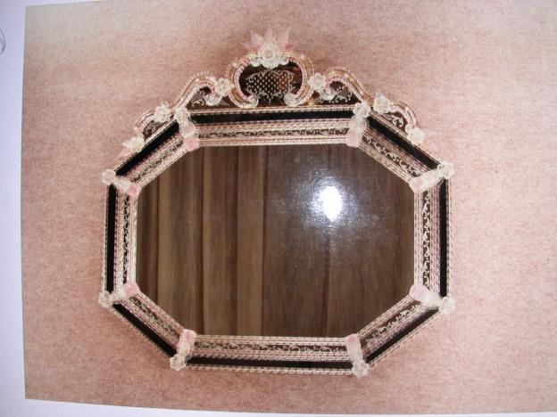 Produzione specchio artigianale veneziano SP187 lavorazione vetro di Murano originale