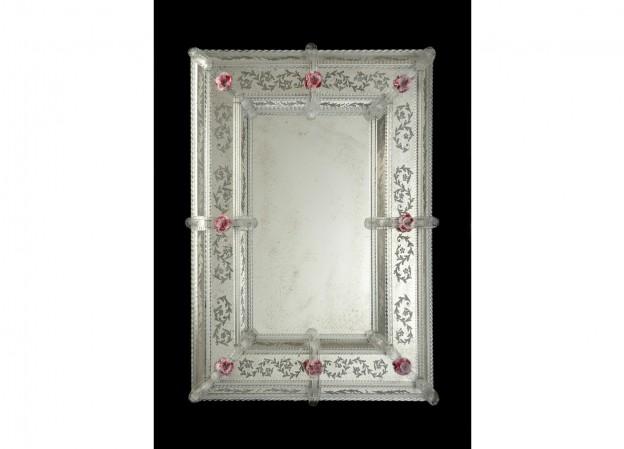 Produzione specchio artigianale veneziano SP23 lavorazione vetro di Murano originale