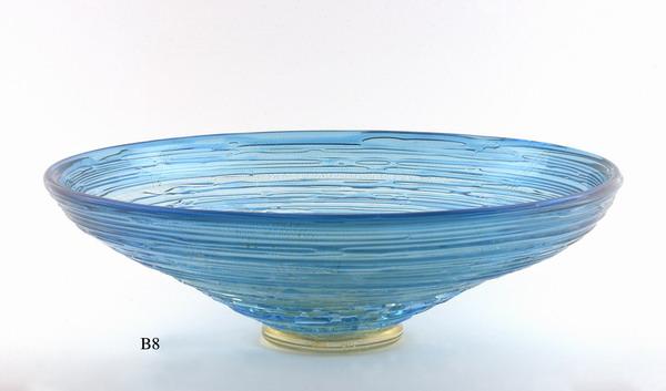 Produzione vaso molato battuto veneziano B8 lavorazione vetro di Murano originale