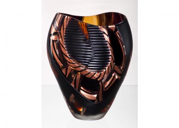 Produzione vaso molato battuto veneziano CR5080 lavorazione vetro di Murano originale