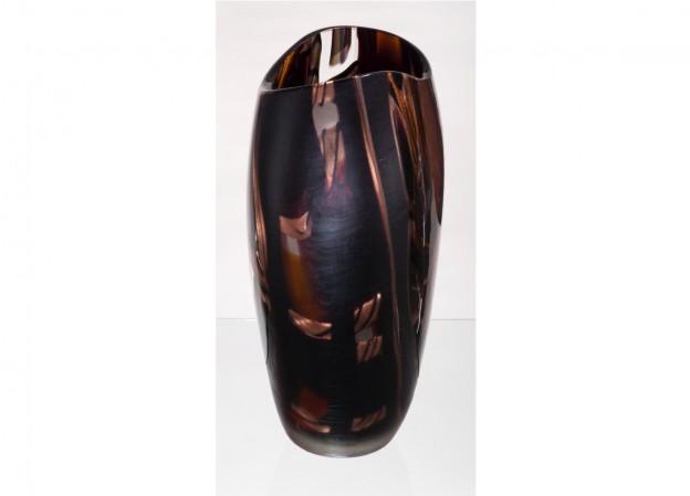 Produzione vaso molato battuto veneziano CR5088 lavorazione vetro di Murano originale