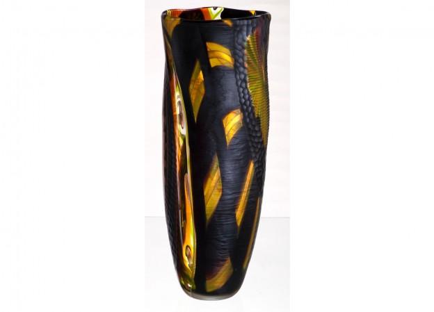 Produzione vaso molato battuto veneziano CR5092 lavorazione vetro di Murano originale